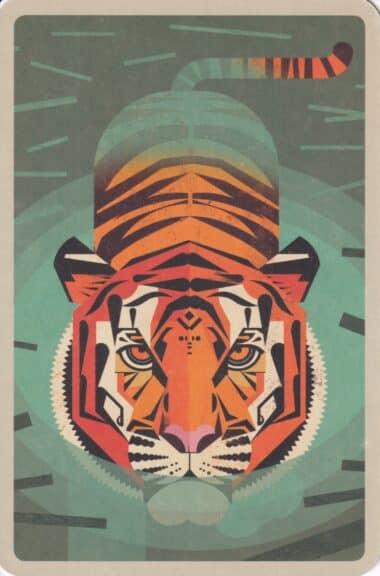 Bengal Tiger Colorful Printed Postcard