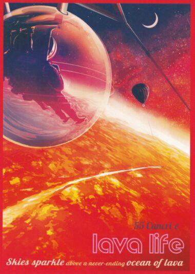 Futuristic NASA Space Travel Lava Life Postcard