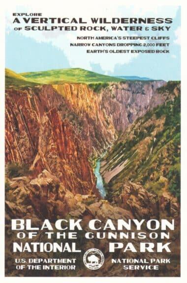 Black Canyon National Park Postcard