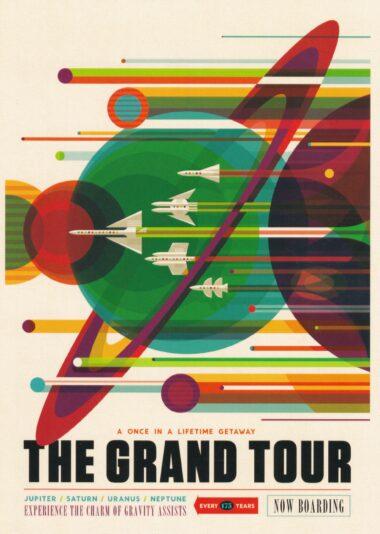Futuristic NASA Travel The Grand Tour Postcard