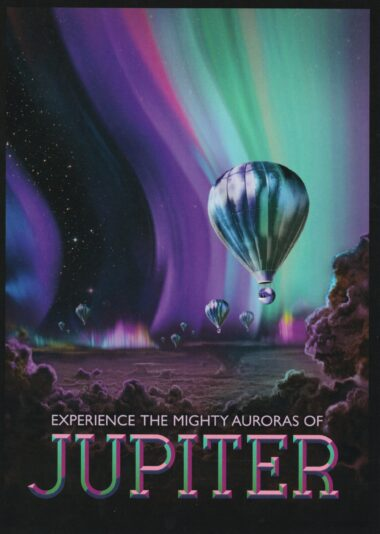 Futuristic NASA Travel to Jupiter Postcard