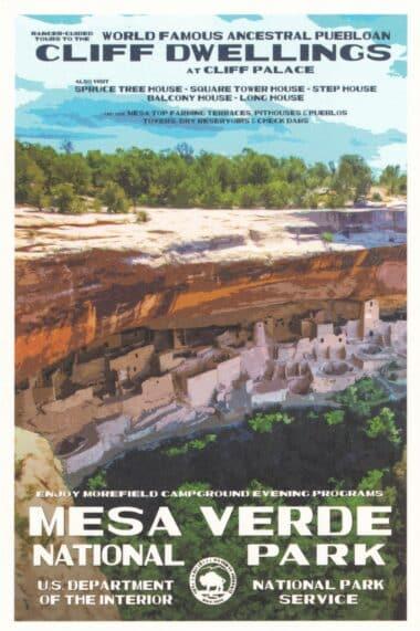 Mesa Verde National Park Postcard