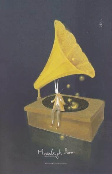 Gramophone Glow-in-the-Dark Moonlight Baron Postcard