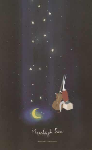 Falling Stars Glow-in-the-Dark Moonlight Baron Postcard
