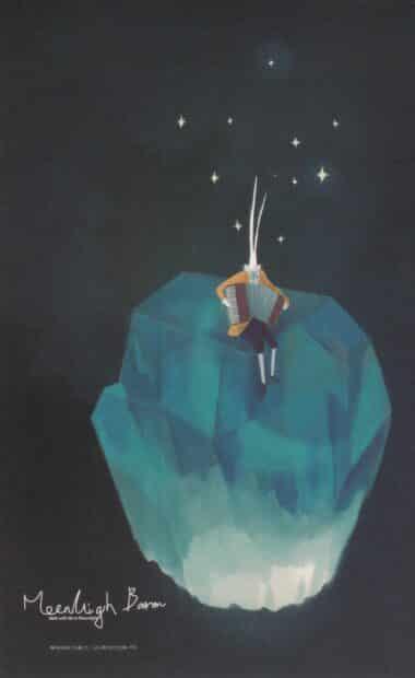 Iceberg Accordion Glow-in-the-Dark Moonlight Baron Postcard
