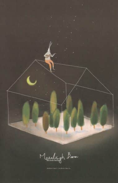 Glass House Glow-in-the-Dark Moonlight Baron Postcard