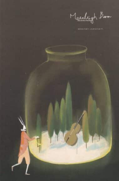 Forest Jar Glow-in-the-Dark Moonlight Baron Postcard