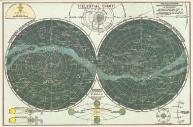 Celestial Chart Postcard