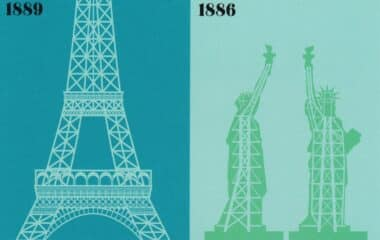 Paris vs. New York City Monuments Postcard