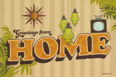 Greetings From Home Social Distancing Postcard