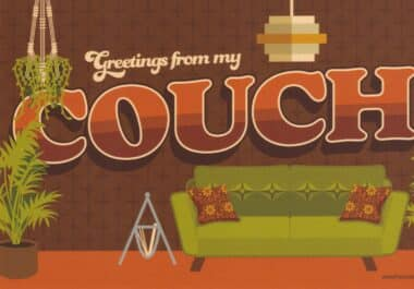Greetings From My Couch Postcard