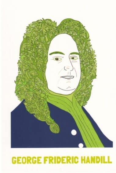 George Frideric Handel Dill Vegetable Celebrity Postcard