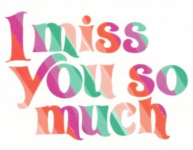 I Miss You So Much Postcard