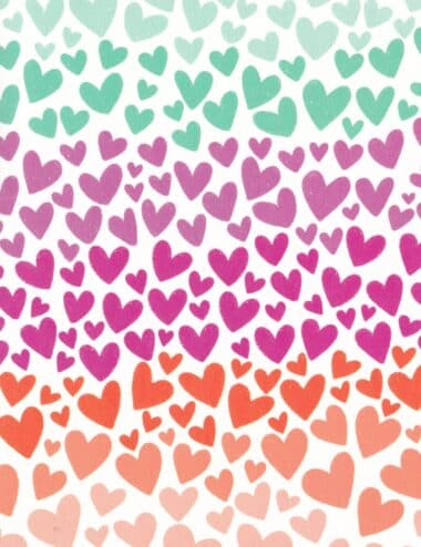 Happy Hearts Multicolored Postcard